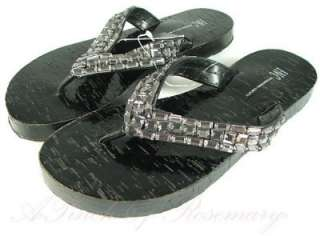 INC Womens Posey Beaded Thong Sandal Shoes Flip Flops