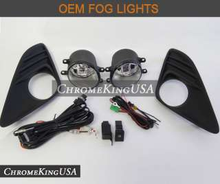 2012 Toyota Camry OEM Fog Lights Bumper Lamps Kit Replacement