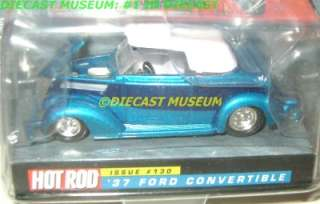 1937 37 FORD CONVERTIBLE HOT ROD MAGAZINE DIECAST RARE