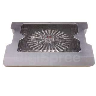 NEW One Big Fan LED Light Laptop Cooling Cooler Pad Stand Translucent