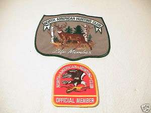 NORTH AMERICAN HUNTING CLUB LIFE DEER & RED PATCHES