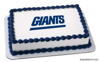 New York Giants Edible Image Icing Cake Topper