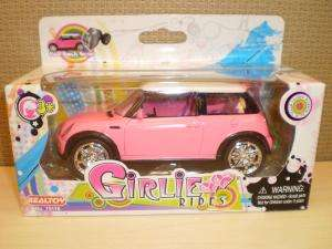 Girlie Rides Pepto Pink Die Cast Mini Cooper Model Car