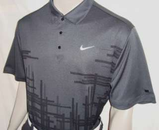060) 2XL 2011 Nike Tiger Woods No Float 1972 Tour Golf Polo Shirt w