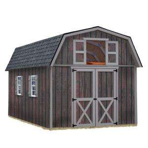 BarnsWoodville 10 ft. x 16 ft. Wood Storage Shed Kit without Floor