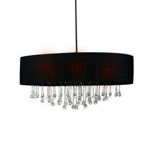 Hampton Bay Penchant 6 Light Hanging Black Pendant DISCONTINUED
