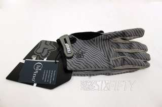 NEW FOX RACING INCLINE GLOVES FULL FINGER 8/SMALL GRAPHITE