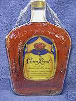 Crown Royal Die Cut Tin Metal Sign Decor Bar