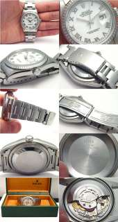 ROMAN NUMERAL DATEJUST STAINLESS STEEL 2003 MENS WATCH