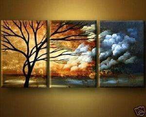 HUGE WALL ART OIL PAINTING ON CANVAS tree(No frame)