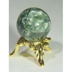 natural siberian seraphinite mini sphere with stand