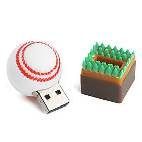 US$ 8.99   2GB Baseball Style USB Flash Drive (White),