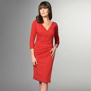 IMAN Global Chic Ultimate Glam 3/4 Sleeve Ruched Dress