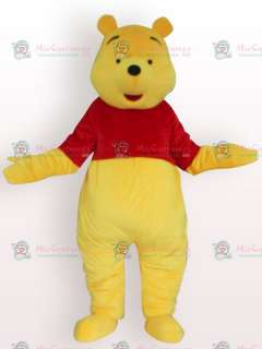Soft Winnie Pooh Bear Short Plush Adult Mascot Costume