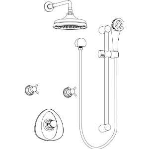 Aquabrass KIT6436173PC Polished Chrome Shower System Kit