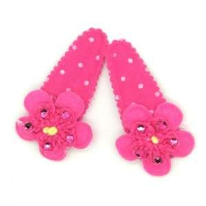 (Magenta) Baby/ Toddler /Girl Polka Dot Flower Shaped with