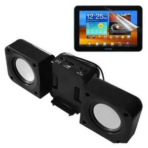 Black Speaker Fold up Docking Station For Samsung Galaxy Tab 8.9 P7310