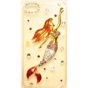com PURPLE MERMAID Case for iPhone 4S & 4 HIGH QUALITY Crystals Bling