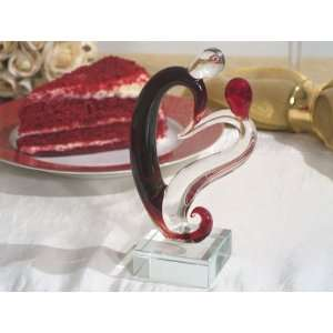 Wedding Favors Two hearts become one Murano cake topper Baby