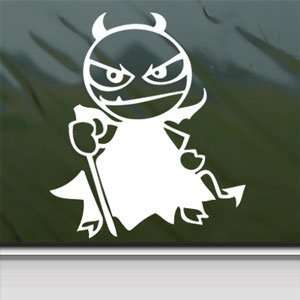 LITTLE DEVIL White Sticker Car Laptop Vinyl Window White