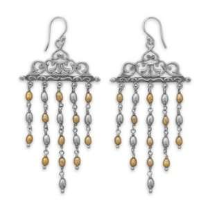 Ornate Cultured Freshwater Pearl Earrings Jewelry