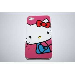 APPLE IPHONE 4 4G PINK SITTING HELLO KITTY WITH BLUE SHIRT