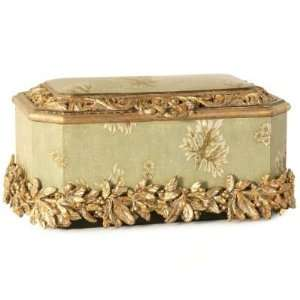 Hand Painted Decorative Box w/ Removable Tray Base