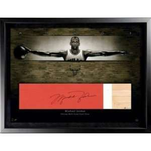 MICHAEL JORDAN Signed Bulls Game Used Floor LE/23 UDA   Autographed