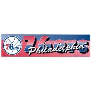 76ers NBA Basketball Throwback Bumper Sticker Strip Automotive