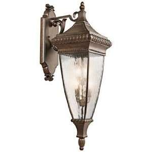 Venetian Rain Bronze 37 High Outdoor Wall Light