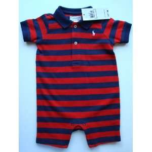 Ralph Lauren Polo Pony Layette Toddler Baby Boy Girl Red Blue Stripe