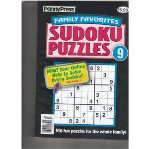 Press Family Favorites Sudoku Puzzles Magazine (516 fun puzzles, 9