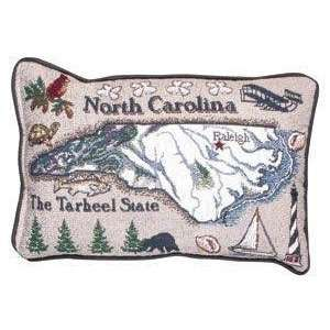 North Carolina Decorative Throw Pillow 8 x 12