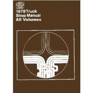 1978 FORD PICKUP TRUCK BRONCO ECONOLINE Service Manual Automotive