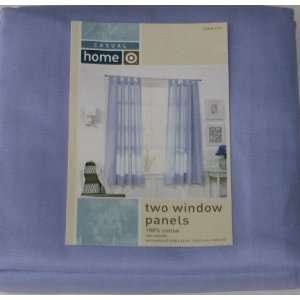 Casual Home Two Lilac Sailcloth Window Panels Lavender Tab Top Curtain