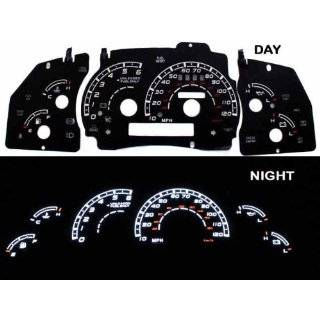 95 97 Ford Explorer/Ranger no Tach WHITE GLOW GAUGES