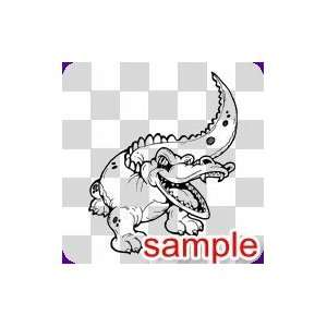 ANIMALS ALLIGATOR 12.5 WHITE VINYL DECAL STICKER