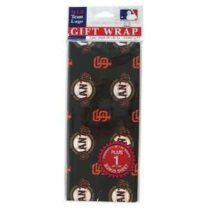 San Francisco Giants MLB Flat Gift Wrap (20x30 Sheets