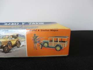 Vintage Hubley 1927 32 Ford Model A Coupe Metal Model Car Kit 1/20