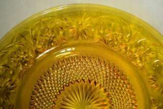 INDIANA GLASS AMBER DAISY DINNER PLATES RARE DEPRESSION