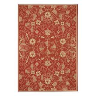 Capel Rugs Elsinore Garden Maze Indoor/Outdoor Area Rug   Poppy Decor