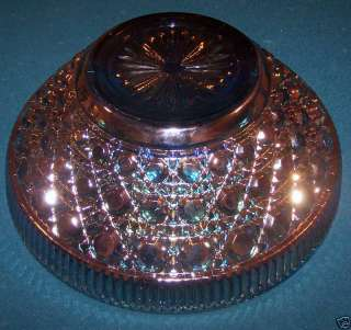 Large Blue Carnival Glass Bowl
