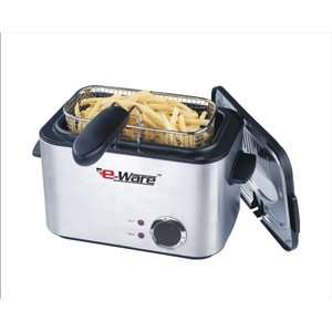 E Ware Rectangular Mini Deep Fryer Appliances