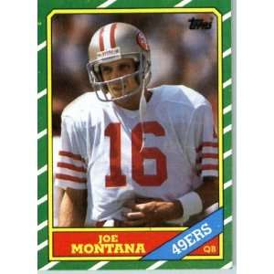 1986 Topps # 156 Joe Montana San Francisco 49ers Football