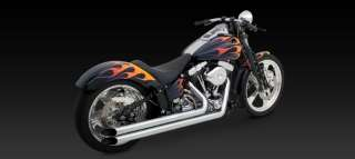 06 Softail Springer Classic Vance & Hines Longshots HS Exhaust CHROME