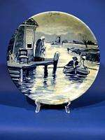 b536 Vintage Royal Delft Wall Plate Westraven JUNE