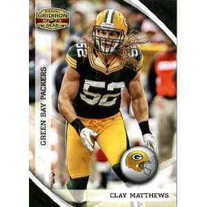 2010 Panini Gridiron Gear #51 Clay Matthews   Green Bay Packers