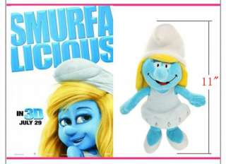 The Smurfs Smurfette Girl Soft Plush Toy 11 US Ship