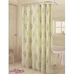 Simply Shabby Chic Green Floral Shower Curtain