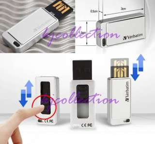 Verbatim 4GB 4G USB Flash Memory Pen Drive Mini SLIDE
